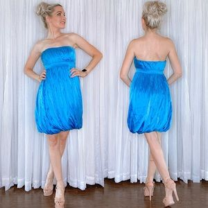 Blue Grecian Inspired Homecoming Dress